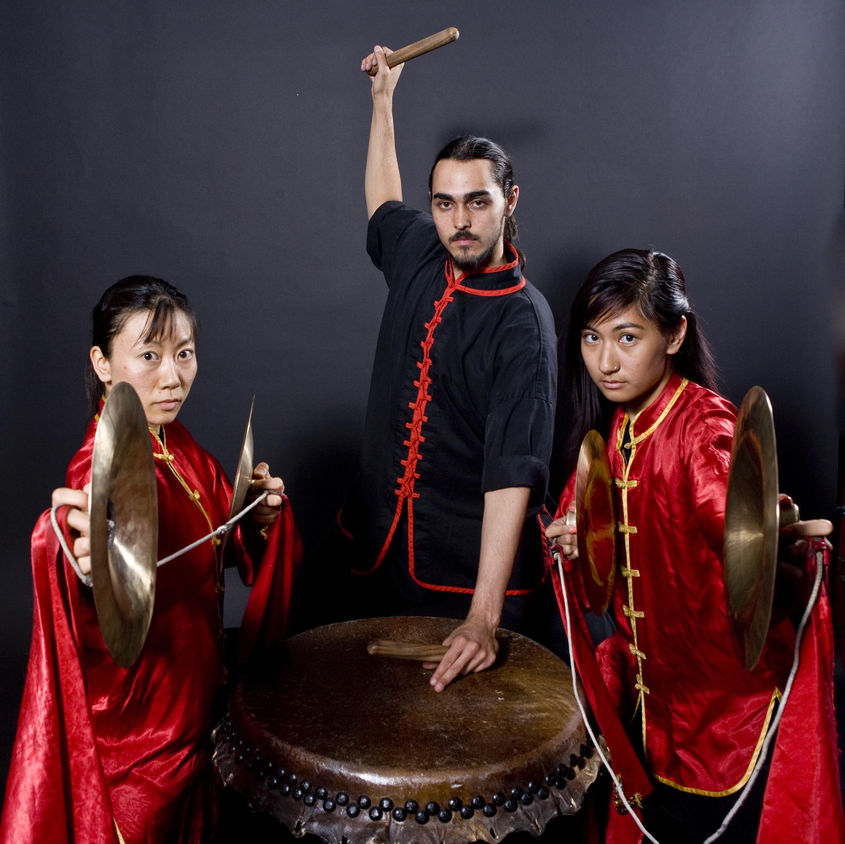 musicians 1 three Lohan Lion Dancers Las Vega